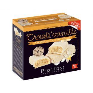 7 barres Crousti Vanille riches en protéines.
