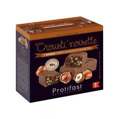 barre croustillante saveur noisette chocolat riche en protéines. (7 x 44 g)