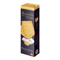 20 biscuits protéinés saveur noix de coco et amandes.