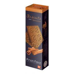 Biscuits saveur spéculoos riches en protéines.