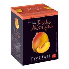 Boisson saveur pêche mangue riche en protéines. 7 préparations en sachet.