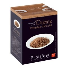 Crème céréales au chocolat riche en protéines. 7 sachets