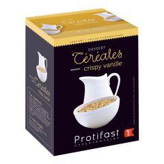 Céréales riches en protéines saveur crispy vanille. 7 sachets