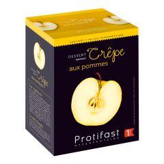 Dessert crêpe aux pommes riche en protéines.  1 boîte de 7 sachets.