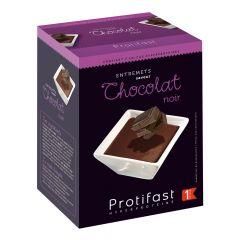 Préparation pour entremets dessert chocolat noir riche en protéines. 7 sachets