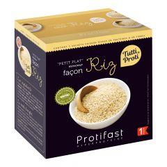 Préparation diététique façon riz hyperprotéiné.