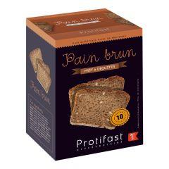 Pain brun multi-céréales riche en protéines.  10 tranches. Poids net : 500 g