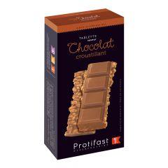 Tablette de chocolat riche en protéines.