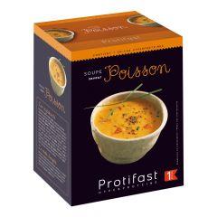 Soupe de poisson riche en protéines. Préparation instantanée. 7 sachets Protifast