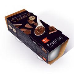 Crème dessert au chocolat riche en protéines. Etui avec 2 coupelles x 125 g.