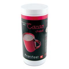 Boisson cacao chaud riche en protéines.  Pot économique 500 g