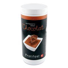 Préparation en poudre au chocolat pour entremets dessert riche en protéines. Format économique : 1 pot de 500 g