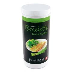 Préparation diététique à reconstituer pour omelette aux fines herbes riche en protéines. 1 pot de 500 g