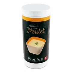 Préparation en poudre pour velouté saveur poulet riche en protéines. 1 pot de 500 g