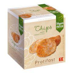 Chips vegan saveur sweet chili riche en protéines d'origine végétale.