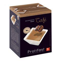 Entremets dessert au café riche en protéines. 1 boîte de 7 sachets. Protifast