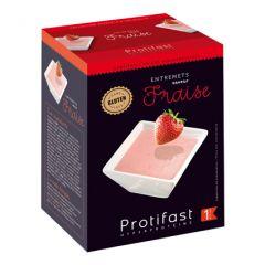 Entremets mousse fraise riche en protéines. Protifast 7 sachets.