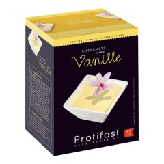 Entremets dessert vanille riche en protéines. Boîte 7 sachets Protifast.