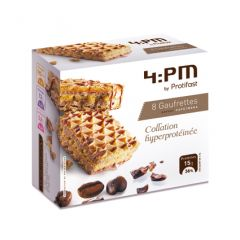 Gaufrettes saveur café moka riche en protéines.