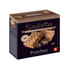 Gaufrettes café Protifast riche en protéines.