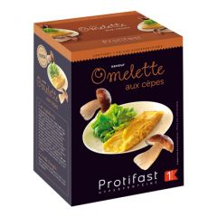 Omelette aux cèpes riche en protéines.  Protifast 7 sachets.