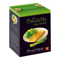 Omelette aux fines herbes riche en protéines. 1 boîte de 7 sachets Protifast.