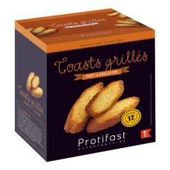 Pain grillé façon Crostini riche en protéines.