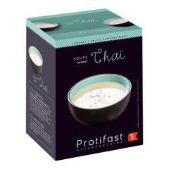 Soupe Thaï riche en protéines Protifast. 7 sachets pour des préparations instantanées.
