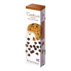 Cookies aux pépites de chocolat riches en protéines.