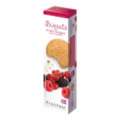 20 Biscuits aux fruits rouge Protifast riches en protéines.