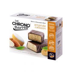 Chrono-barre amande calisson et chocolat noir.