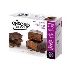 Chrono-Nutrition barre au chocolat noir, sans gluten.