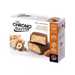Chrono-barre nougat chocolat noir.
