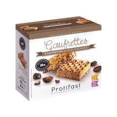 Gaufrettes café arôme moka riches en protéines.